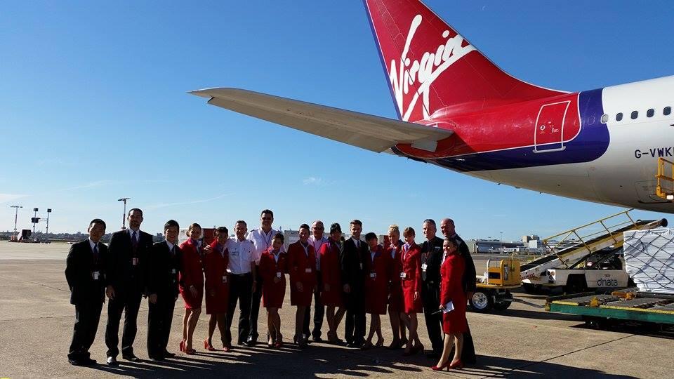 Virgin Atlantic farewells Sydney!